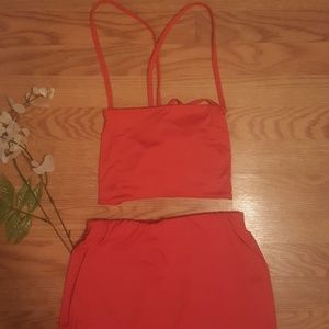 No Brand Skirts - Crop Top Co-Ord Set